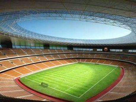 Макет львівського стадіону