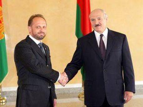 Роман Безсмертний та Олександр Лукашенко