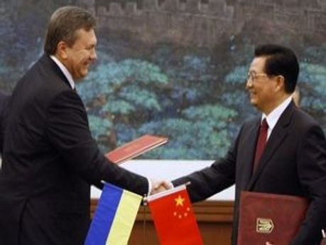 Виктор Янукович и Ху Цзиньтао