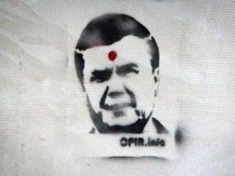 Изображение на одной из стен во Львове