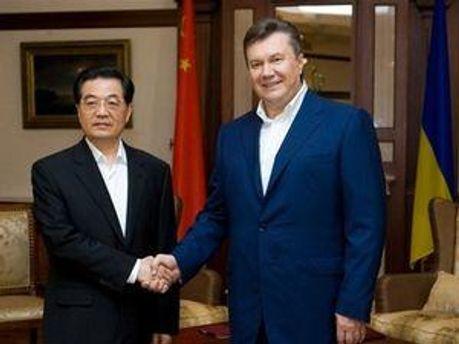 Ху Цзіньтао та Віктор Янукович