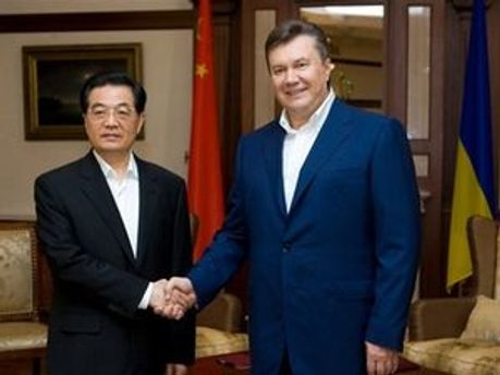 Ху Цзиньтао и Виктор Янукович