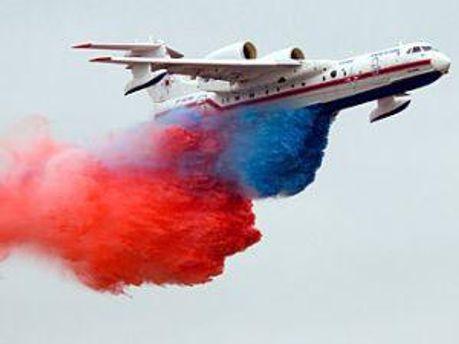 Российский самолет, который должен осуществлять шоу