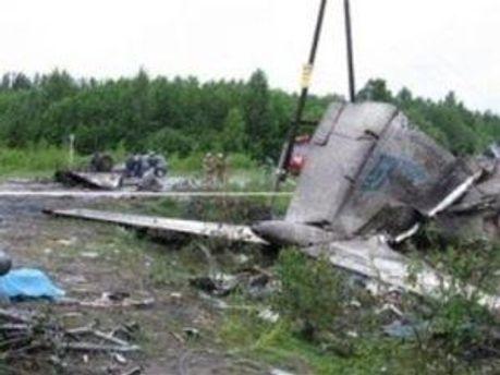 Разбитый Ту-134
