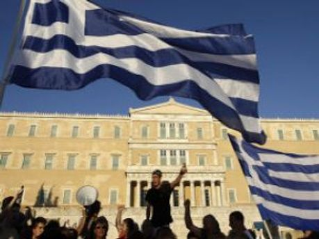 Демонстранты в Греции