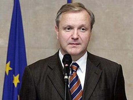 Комиссар Евросоюза по экономике Олли Рен