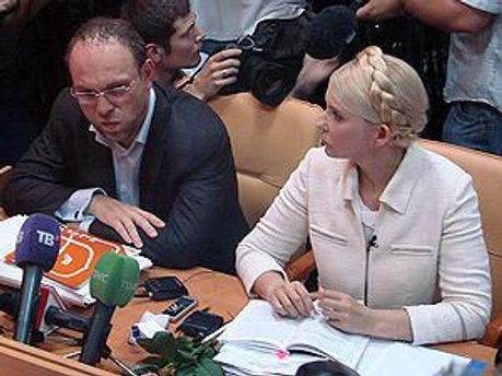 Тимошенко відділили щитами