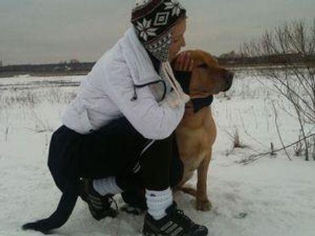 Юлия Тимошенко со своей собакой