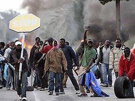 В Італії протестують іммігранти