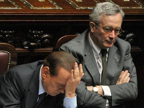 Сільвіо Берлусконі та Джуліо Тремонті
