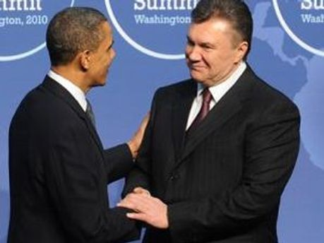Барак Обама и Виктор Янукович