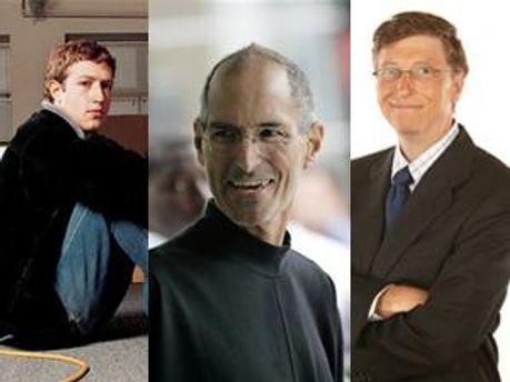 Марк Цукерберг, Стів Джобс та Білл Гейтс