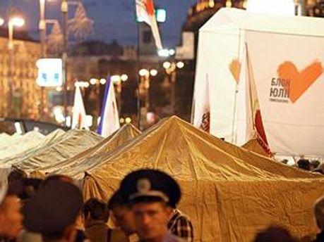 Палатки могут демонтировать уже завтра