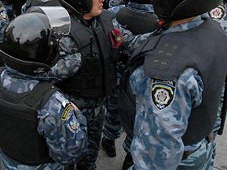 Милиция собирается на главной площади Харькова