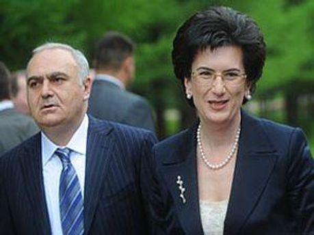Бадрі Біцадзе та Ніно Бурджанадзе