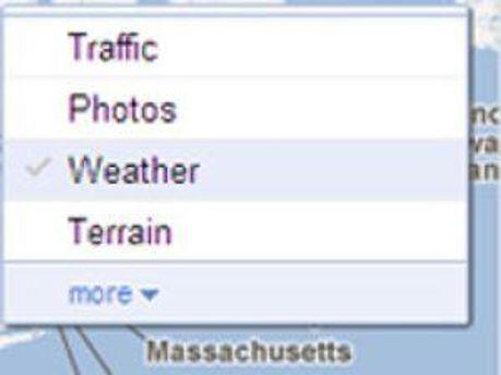 Google Maps покаже погоду