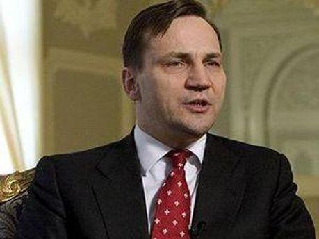 Минист иностранных дел Польши Радослав Сикорский
