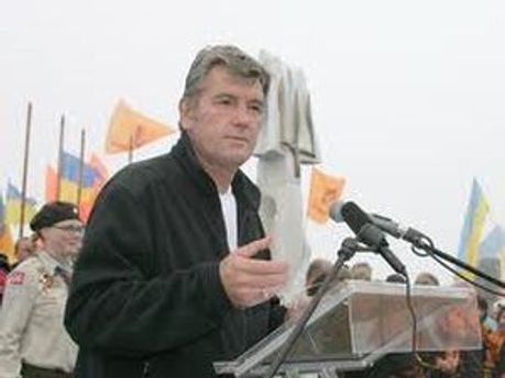 Виктор Ющенко на Говерле