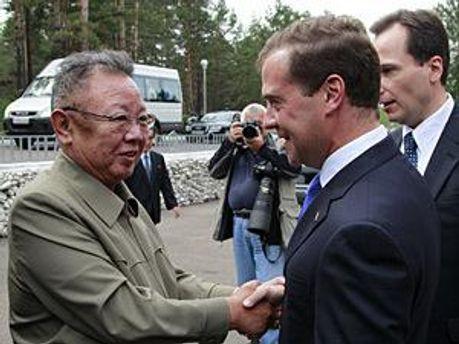 Встреча Медведева и Ким Чен Ира в России