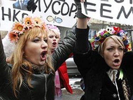 Активистки движения FEMEN