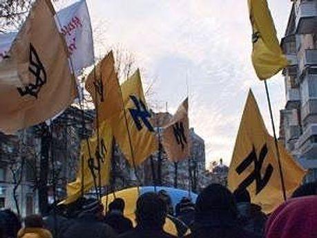 Националисты провели акции в нескольких городах