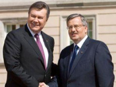 Сегодня Янукович встретится с Коморовским