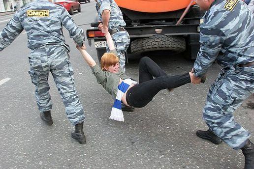 Каждого 31-го числа милиция арестовывает демонстрантов