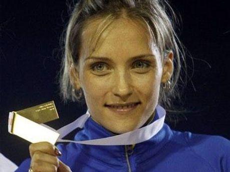 Чемпионка мира в тройном прыжке Ольга Саладуха