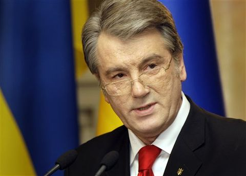 Виктор Ющенко отдал своего внука в школу