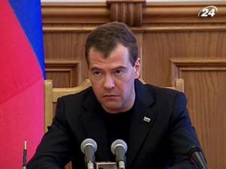 Российский президент Дмитрий Медведев