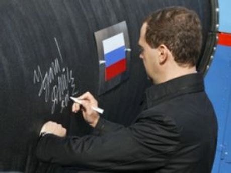 Медведев возле нового газопровода