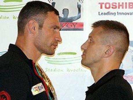 Виталий Кличко и Томаш Адамек
