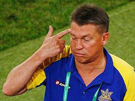 Тренер сборной Украины Олег Блохин