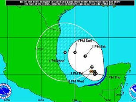 Схема шторму