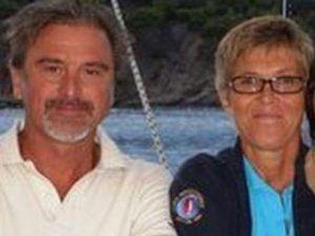 Евелін Коломбо з  чоловіком