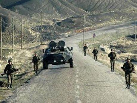 Турецькі війська на кордоні з Іраком