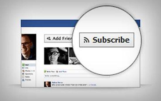Subscribe - обновление от Facebook