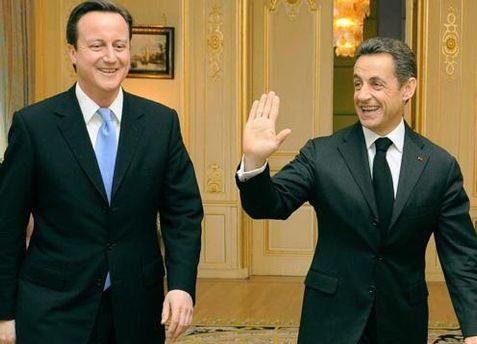 Девід Кемерон і Ніколя Саркозі