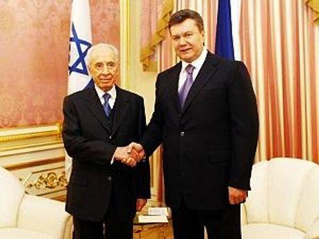 Шимон Перес і Віктор Янукович