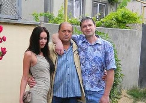 Олександр Шадров із сім'єю