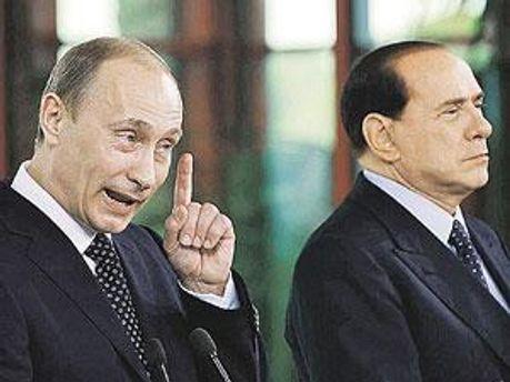 Володимир Путін і Сильвіо Берлусконі