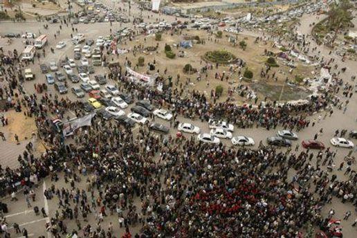 Площадь Тахир в Каире стала традиционным местом демонстраций
