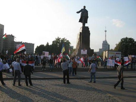 В Харькове выразили поддержку Палестине