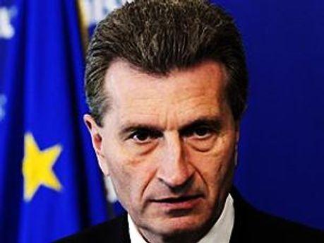 Комісар Єврокомісії з енергетичних питань Гюнтер Оттінгер