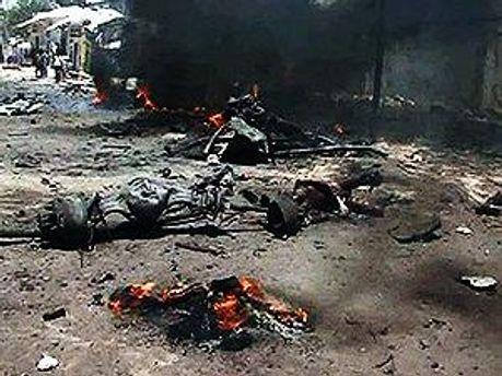 Фото з місця події — теракту в Могадішо 4 жовтня