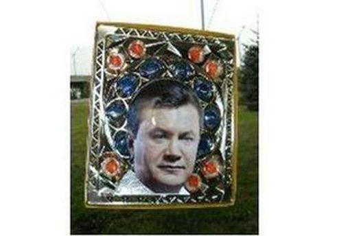 Портрет Януковича вже розміщували на різних предметах