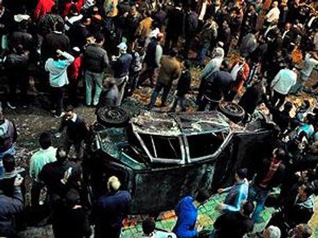 В ночь на понедельник в Каире произошли столкновения между коптами и полицией