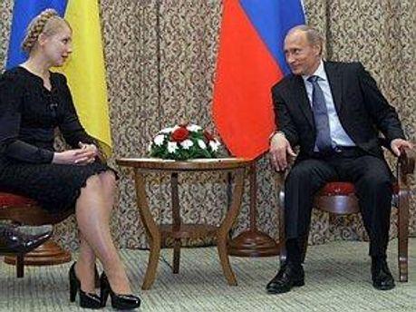 Юлия Тимошенко на переговорах в 2009 году
