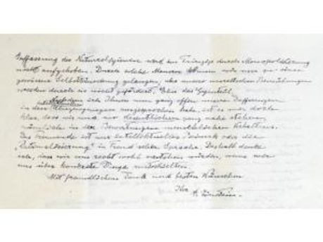 Лист Альберта Ейнштейна