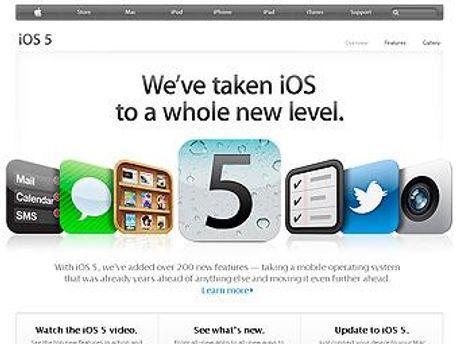 Сторінка iOS 5 на сайті Apple.com